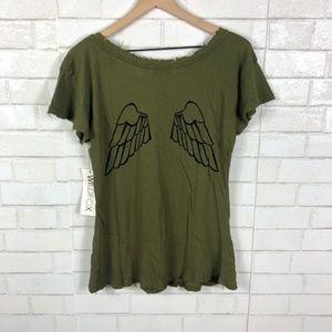 NEW Wildfox Hells Angels Distressed Tee